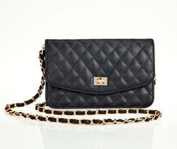 Luxury black women bag isolated over white