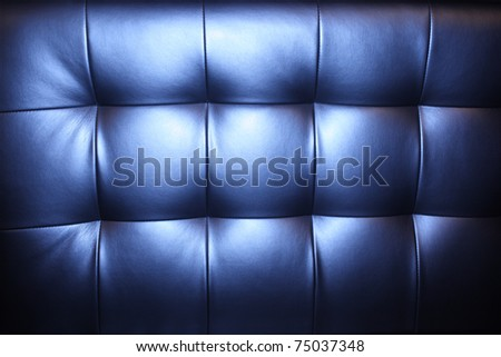 Luxury blue leather upholstery background