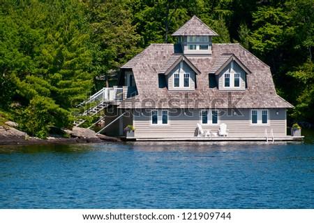 Luxury Boathouse on Lake Muskoka