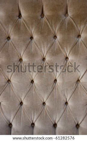 Luxury brown fabric texture on an old sofa
