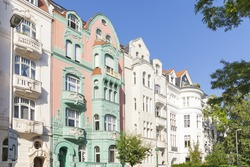luxury buildings and flats in berlin, pictures taken from public street, therefore no pr necessary
