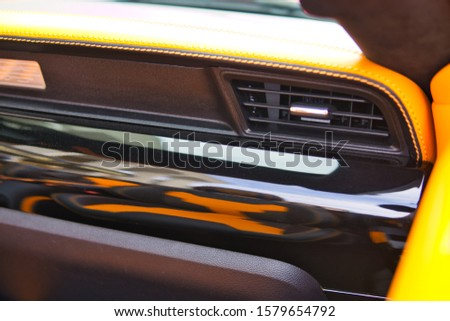 Luxury car design elements, side mirrors, door upholstery, interior, steering wheel, wheels, leather, front and rear lights, controls #1579654792