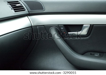Luxury car door interior and handle
