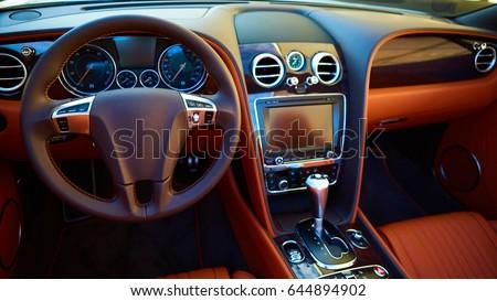 Luxury car Interior #644894902