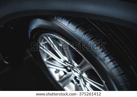 luxury car wheel close-up