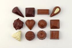 Luxury Chocolates on White Background