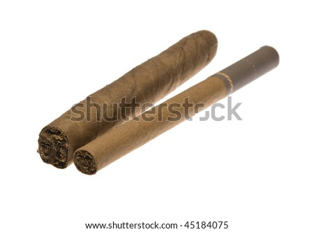 luxury cigars isolated on white background
