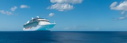 Luxury cruise ship / vacation banner.