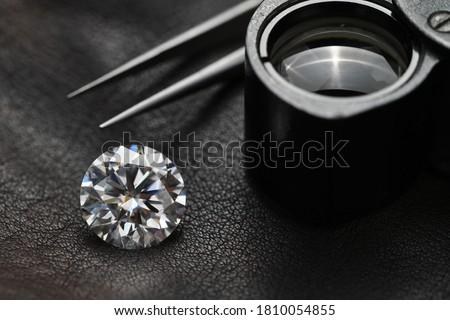 Luxury Diamond and Jewelry Loupe Photo stock ©