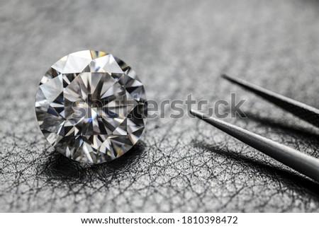 Luxury Diamond on Black Leather
