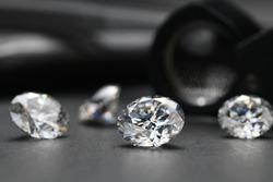 Luxury Diamonds. Precious Loose Stones