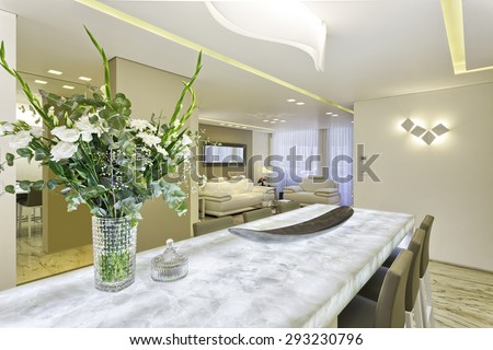 Luxury Dining Room in Modern Home #293230796