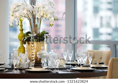 luxury dining styling  #1321623824