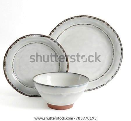 Luxury Dishware set,mug and dish on white background,teacup with bowl #783970195