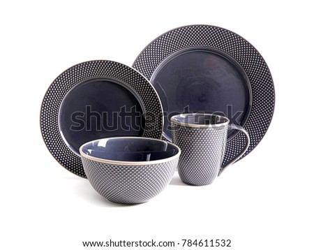 Luxury Dishware set,mug and dish on white background,teacup with bowl #784611532