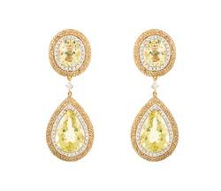 Luxury earrings isolated