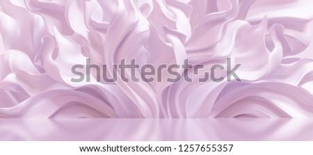 Luxury elegant background with silk drapery. 3d illustration, 3d rendering.