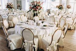 Luxury, elegant wedding reception table arrangement, floral centerpiece