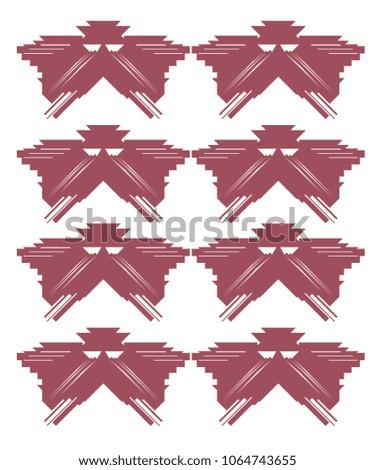 Shutterstock Luxury exotic red on white. DESIGN EXOTICO -- Navajos pattern jpg