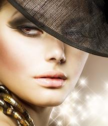 Luxury Glamour Woman.Fashion Art Portrait