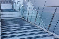 Luxury Glass staircases. staircase with glass and aluminum
