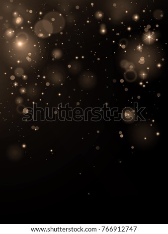 Luxury gold bokeh on black background
