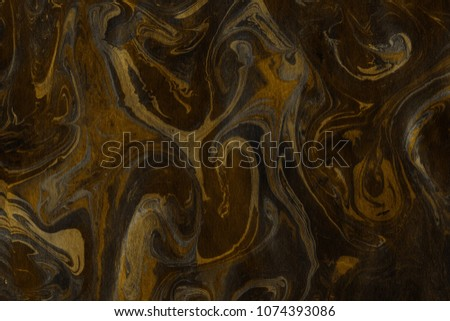 Luxury gold marble ink paper textures on white background. Chaotic abstract organic design. #1074393086