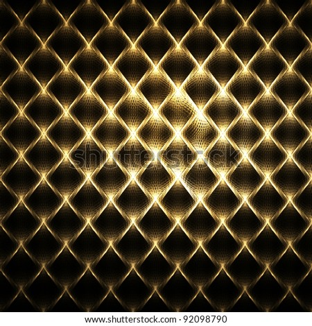 Luxury golden fence mosaic