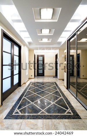 Luxury hall in a new apartment