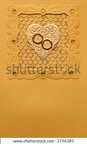 stock photo Luxury handmade wedding card