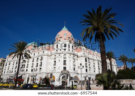 luxury hotel Negresco, Nice, French Riviera