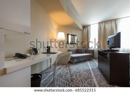 Luxury hotel room interior #685522315