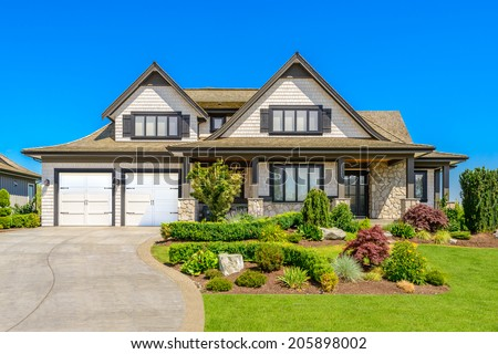 Luxury house at sunny day in Vancouver, Canada. #205898002