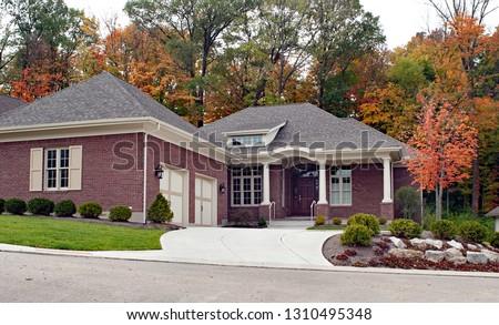 Luxury House in Autumn