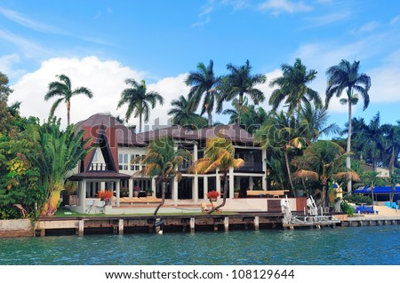 Luxury house on Hibiscus Island in downtown Miami, Florida.