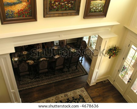 Luxury House with regal elegant front foyer