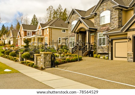 Luxury houses in Vancouver, Canada.