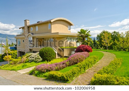 Luxury houses with nice outdoor landscape in vancouver for Nice houses in canada