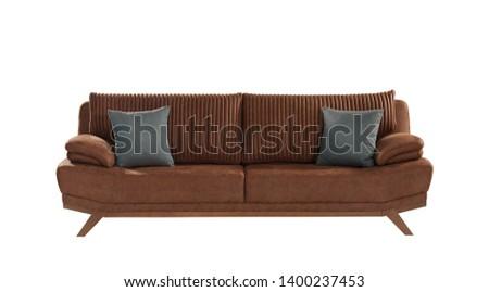 luxury interior 3d rendering sofa #1400237453