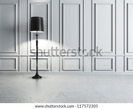 luxury interior with lamp