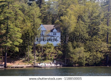 Luxury lake home in upstate new york stock photo 118850005 for Lake house upstate ny