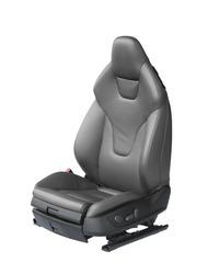 Luxury leather car seat isolated on white background