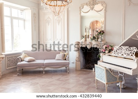 luxury light interior of...