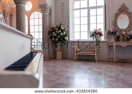 luxury light interior of...