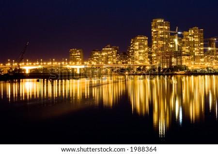 Luxury living in modern buildings, Yaletown, Vancouver