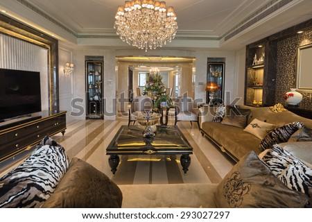 luxury living room interior #293027297