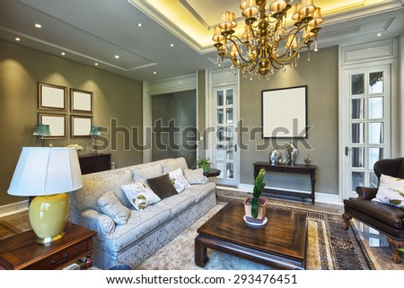 luxury living room interior  #293476451