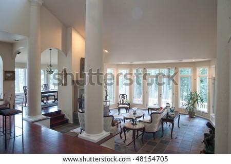 Luxury Living Room With Slate Floor Stock Photo 48154705 Slate Floors In Living  Room Part 67
