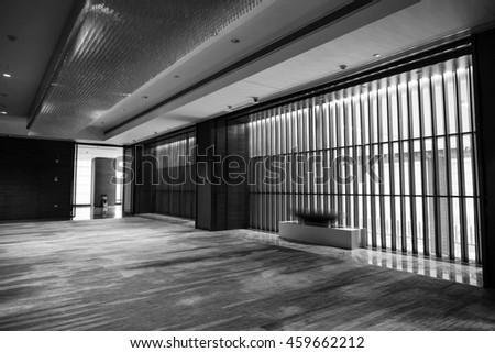 Luxury lobby interior.With crystal lamp,bing hall, marble floor, french sash,mosaic tile,comfortable sofa, etc. #459662212