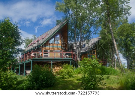 luxury lodge in the woods , Halibut Cove , Alaska